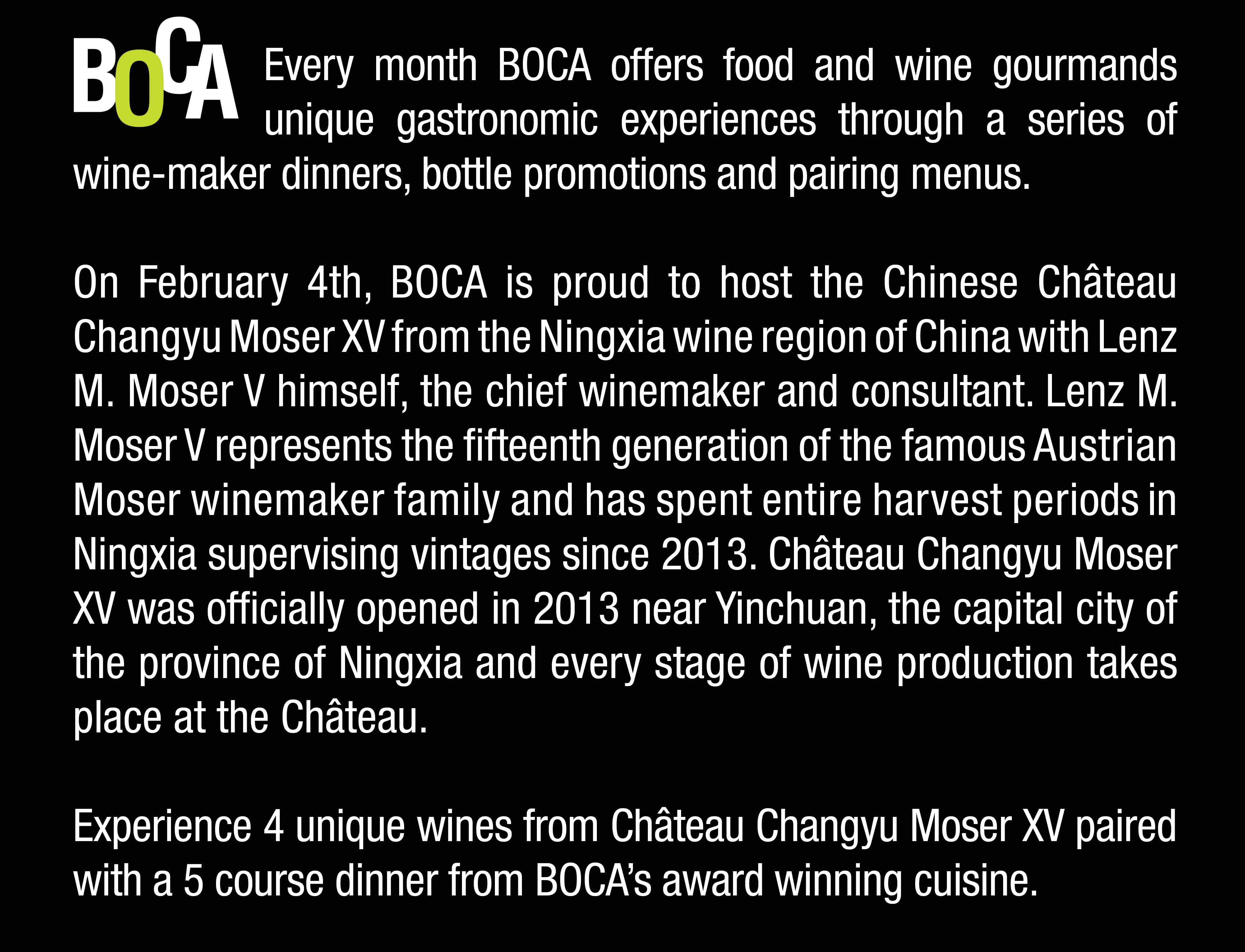 Chateau Changyu 5 course dinner