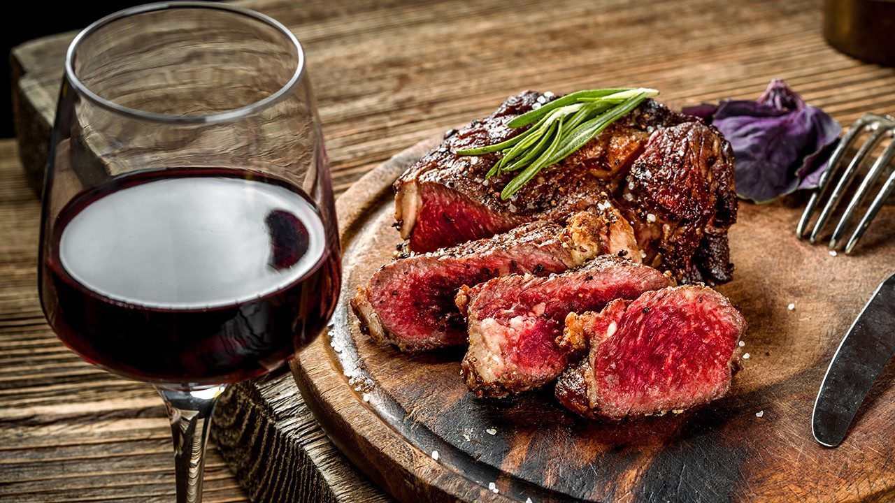 Steak and red wine pairing
