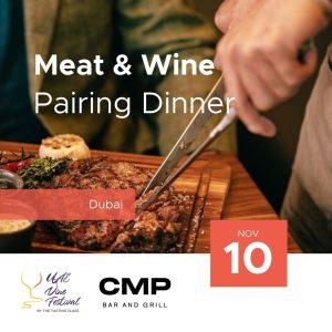 10 Nov - Meat & Wine Pairing Dinner