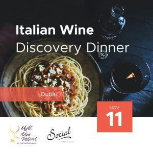 11 Nov - Italian Wine Discovery Dinner at Social by Heinz Beck