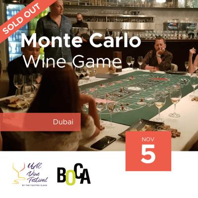 5th Nov - Monte Carlo Wine Game at BOCA